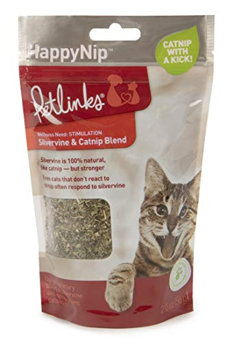(Petlinks Pure and Natural Cat Treats: Greens, Seeds, Loose Leaf Catnip and HappyNip, Catnip Spray )