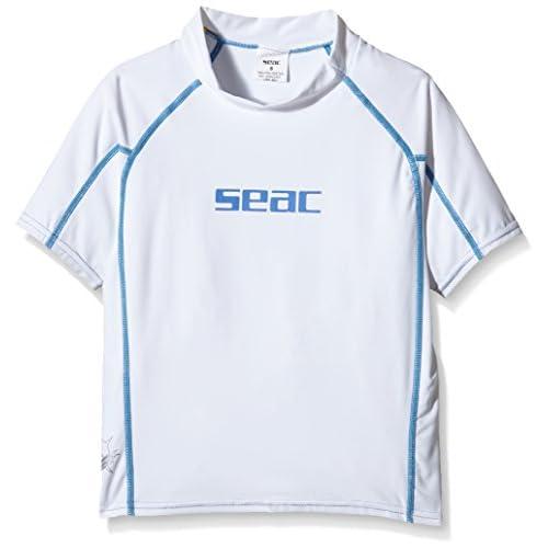 Seac 1550014003202A Maillot Enfant Blanc/Bleu FR : 3 ans (Taille Fabricant : 3 ans)