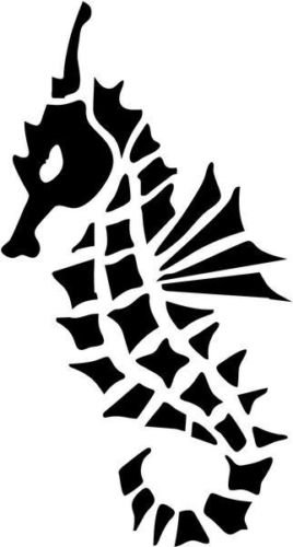 - Tribal Seahorse Animal Wildlife Graphic Car Truck Windows Decor Decal Sticker - Die cut vinyl decal for windows, cars, trucks, tool boxes, laptops, MacBook - virtually any hard, smooth surface