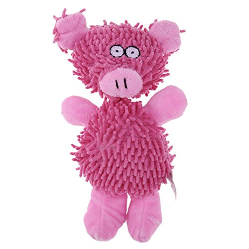 imal Shape Funny Pig Duck Shape Puppy Toy Pet Cat Lovely Voice Toys Sound Squeaky Plush Toy Soft Cuddly Dog Supplies Red M ()