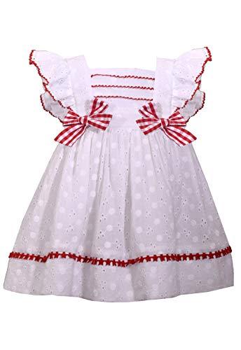 Bonnie Jean White Eyelet Pinafore Dress (24 Months)