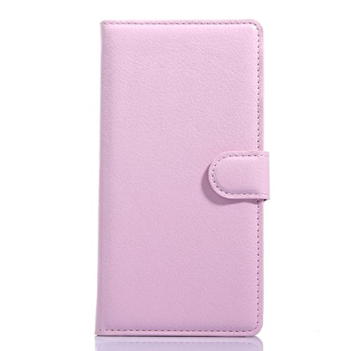 Bessky(TM) 2015 Luxury Flip Leather slot wallet Case Stand Cover Skin For OnePlus One (Pink)