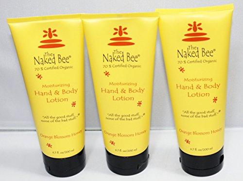 Naked Bee Hand Body Lotion 3 Pack of 6.7 Oz Orange Blossom Honey Deep Moisturizing