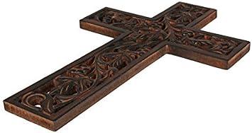 S.B.ARTS Decorative Crucifix Wooden Wall Cross Art Plaque Handmade for Church Or Home D/écor 12 X 8