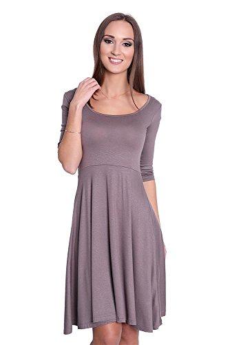 Kleid mit UAusschnitt Top 5 Farben Gr 34 36 38 40 42 44 46 A6409 ...