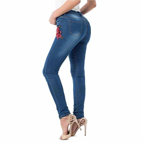 Brevi Denim Strappati Elastico Pantaloni Hole Ricamato Shorts Reasoncool Donne Stretto Leggings sottile Blu Jeans In 2017 7pYwxTqz