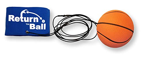 Return Ball Basketball - Fun Single Player Toy for Indoor and Outdoor Play -