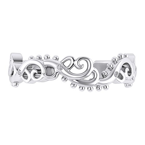 Sterling Silver 925 Round Cut White Cubic Zirconia Women's Adjustable Foot Toe (Bezel Toe Ring)