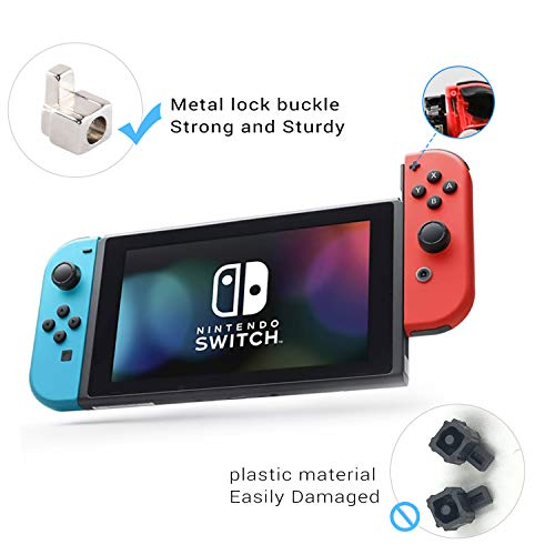 Joycon Joystick Replacement for Switch Joy Con Grip Accessories, 3D Replacement Joystick, Include 4 Pack Switch Analog Thumb Stick, Tri-Wing, Cross Screwdriver, Pry Tools, 4 Thumbstick Caps