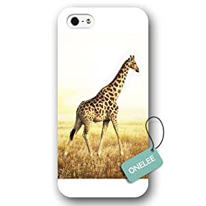 Onelee(TM) - African Wild Animal Giraffes iPhone 5s Hard Plastic Case & Cover - White 08