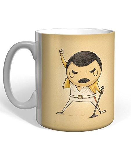 Taza Missborderlike Freddie Mercury Las etiquetas confunden me resbalan