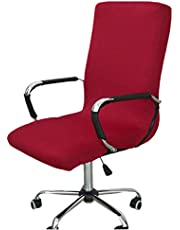 Office Computer Chair Cover, Universal Replacement Removable Rotating Stretch Resilient Desk Boss Armchair Chair Cover Slipcover