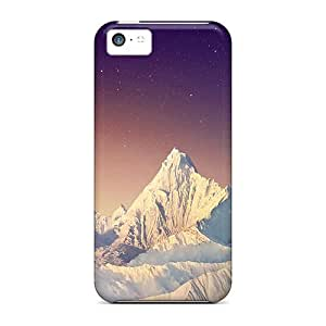 Hot KLgzXyg5957sWiNk Snowy Mountain With Stars Tpu Case Cover Compatible With Iphone 5c by runtopwell