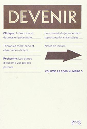 Devenir, volume 12, numéro 3, 2000