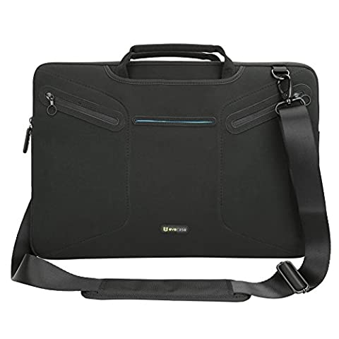 Evecase Multi-functional Carrying Messenger Case with Handle and Shoulder Strap for 17 - 17.3 inch Laptops - (Msi Laptop Gtx 860)