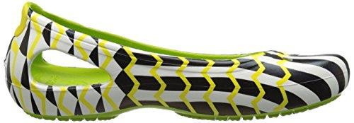 Donne Delle Chevron Crocs Volt Mondo Piatto Kadee Verde T5zqnSvzU