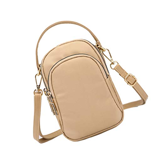 Cross Phone Small Bag Shoulder Body Holder Bags Sports Travel Prettyia Ladies Girls Mini Shoulder Cell Purse Khaki 4w4OT1qY