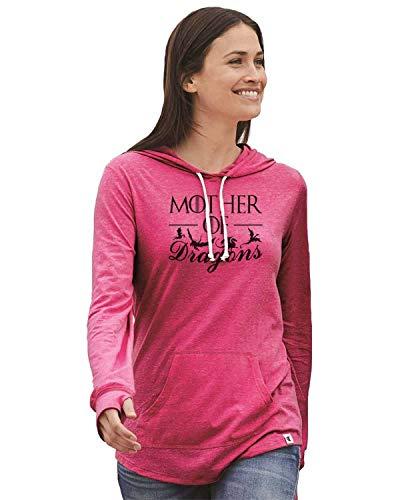 "Women's Game of Thrones Champion Hoodie ""Mother of Dragons Light Weight Sweatshirt Medium, Pink"