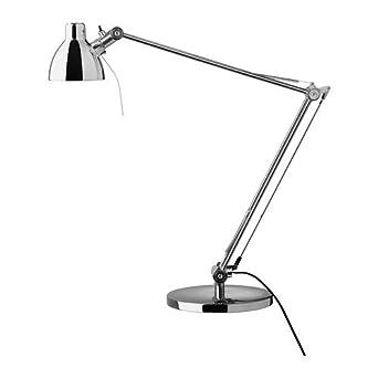 Ikea Antifoni Table Lamp, Work, Reading, Adjustable Nickel Plated