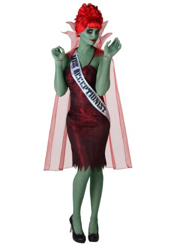 Beetlejuice Cape - Miss Dead Receptionist Costume X-Large Red