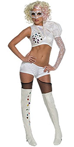 Lady Gaga Paparazzi Fancy Dress Costume & Wig (US (Paparazzi Costumes)