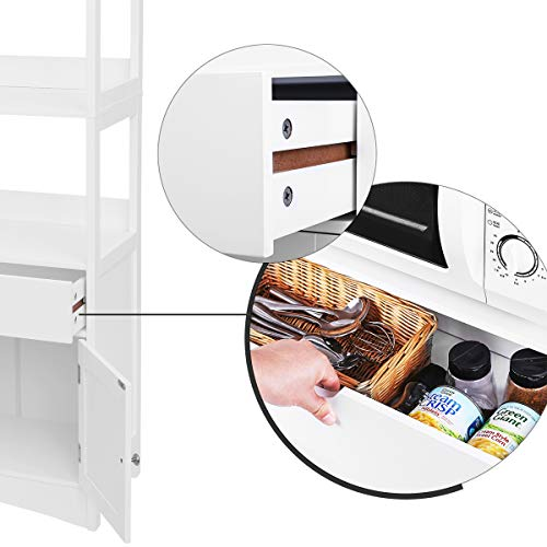 Songmics Bathroom Storage Cabinet With Drawer 2 Open Shelves And