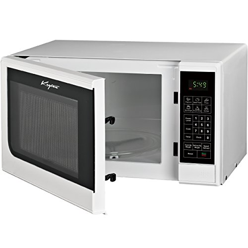 Keyton Microwave Oven - 6 Instant Cooking Settings & 10 Power Levels With A Digital Display, Built In Clock & Child Safety Lock, UL Approved - 0.7 Cubic Feet, White