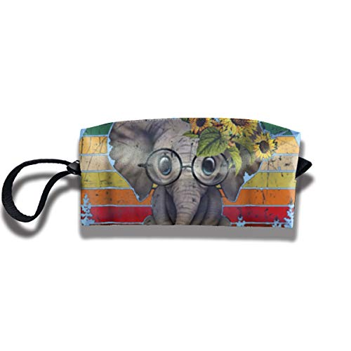 In A World Where You Can Be Anything Be Kind Elephant Travel Makeup Bags