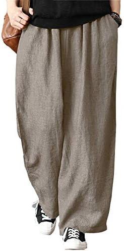 Pantalones Hombre Lino Suelto para Yoga Casual Diario Pantalón ...