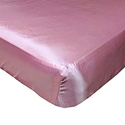 Rose Pink Cloud Satin Fitted Crib Sheet - Fits Standard Crib Mattresses and Daybeds