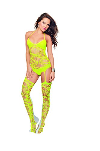 Dreamgirl Women's Samoa Hosiery Romper Bodystocking