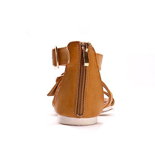 Femme Sandales Été Zip Détente Alexis Boucle Printemps Chaussures Jaune Leroy avec wqBzzRxa0