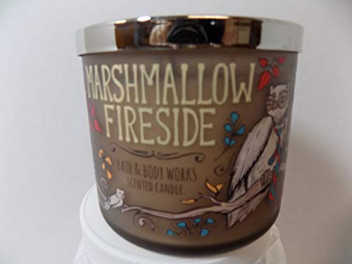Bath and Body Works New Marshmallow Fireside 3 Wick W Candle Decorative Jar 14.5 oz