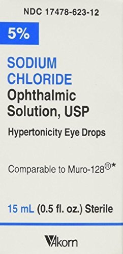 Akorn USP 5 Sodium Chloride Ophthalmic Solution, 0.5 Fluid Ounce (Pack of 2) by ()