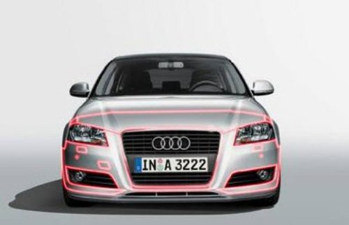 Genuiene Audi Accessories 4G0071316C ClearBra Front Protective Film with Parking System for Audi A6 Audi Genuine Accessories