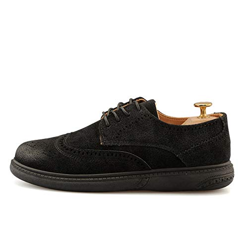 Moda Zapatos Oxford Negro Bangxiu Baja Flor 42 Eu Superior Amarillo Formales Brogue Vestir Tamaño Hombres Los Retro De Negocios Ahuecada color Cómodos Cuero XYqYdB