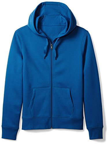 (Amazon Essentials Men's Full-Zip Hooded Fleece Sweatshirt, Blue, Large)