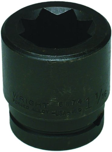 Wright Tool #6866 8-Point Double Square Impact Railroad Socket
