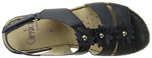 Caprice 28706, Sandalias con Cuña para Mujer Azul (Ocean Nappa)