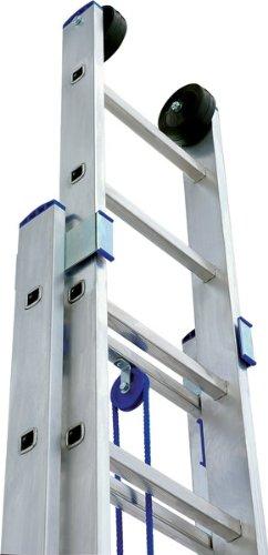 Gut gemocht Seilzugleiter 2x22 NEU XXL 11,10m Aluleiter Leiter mit Seilzug QG13