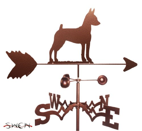 SWEN Products Hand Made Miniature Pinscher MIN PIN Dog Garden Stake Weathervane ()