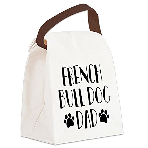CafePress French Bulldog Dad Canvas Lunch Bag with Strap Handle