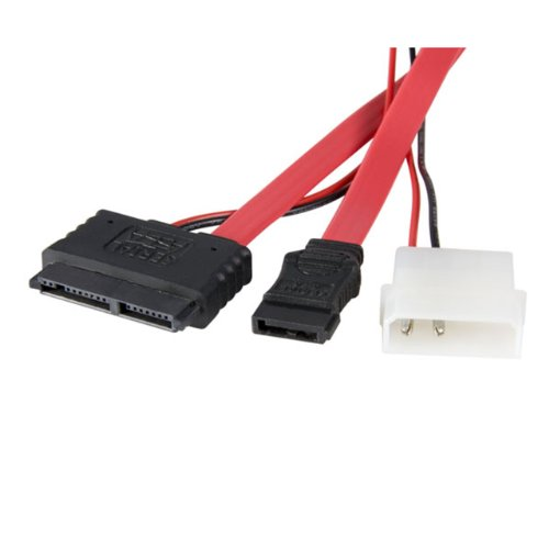 StarTech.com Micro SATA to SATA with LP4 Power Adapter Cable - 12 Inch (MCSATAF20) by StarTech