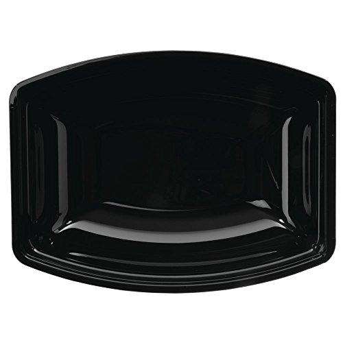 Cambro RSB912CW110 Camwear Bowl, black, ribbed, rectangular, 9 x 12-1/8