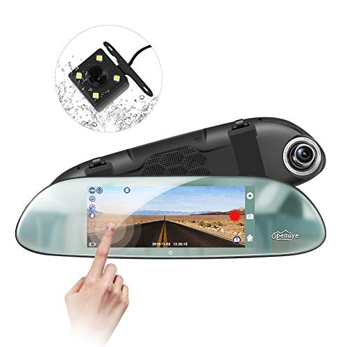 Openuye Mirror Dash Cam, Backup Camera 7