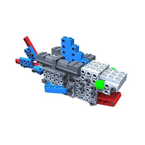 AR Motorial Building Robot, SainSmart Jr. BT-08 DIY Assembling Robotic Block Set, Battery Motor Operated (Shark)