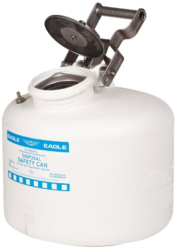 Eagle 1517 Disposal Polyethylene Safety Can, 3 Gallon Capacity, White by Eagle