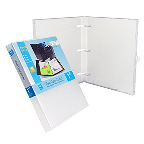 UniKeep 3 Ring Binder - Clear - Case View Binder - 1.0 Inch Spine - with Clear Outer Overlay - Box of 20 ()