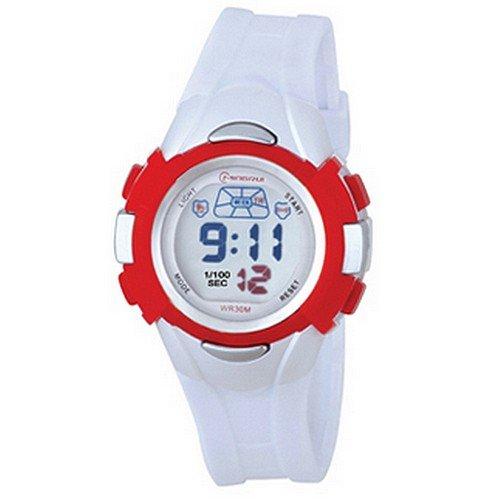 Montre Concept-Reloj digital de mujer/infantiles, correa de plástico, color blanco