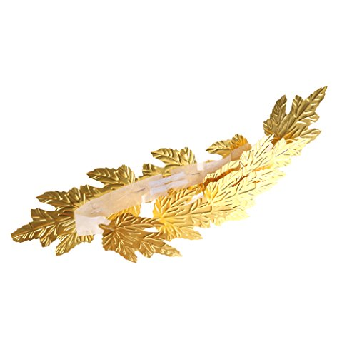 MagiDeal Gold Leaf Roman Greek Goddess Laurel Wreath Fancy Dress Costume Headband